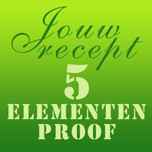 5 elementen voeding afvallen