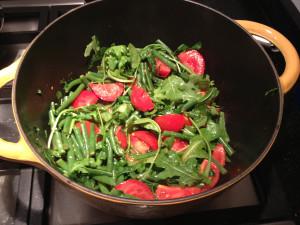 haricots verts met tomaat