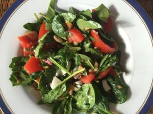 gezonde spinaziesalade